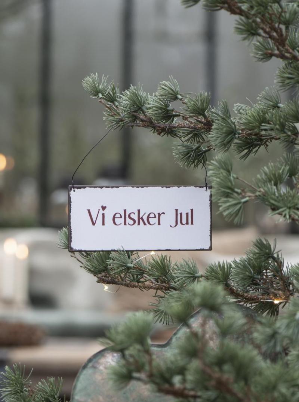 Metall skilt, Vi Elsker Jul