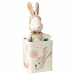 Happy day liten kanin i metall boks