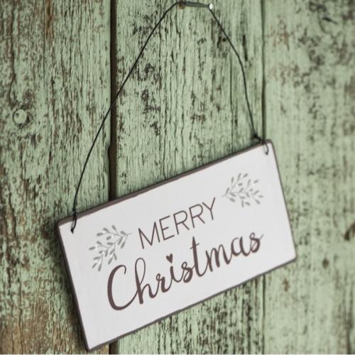 Metall skilt, merry christmas