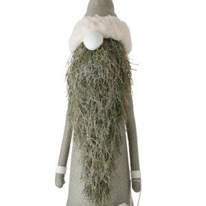 Dekor julenisse i dus grønn, stor
